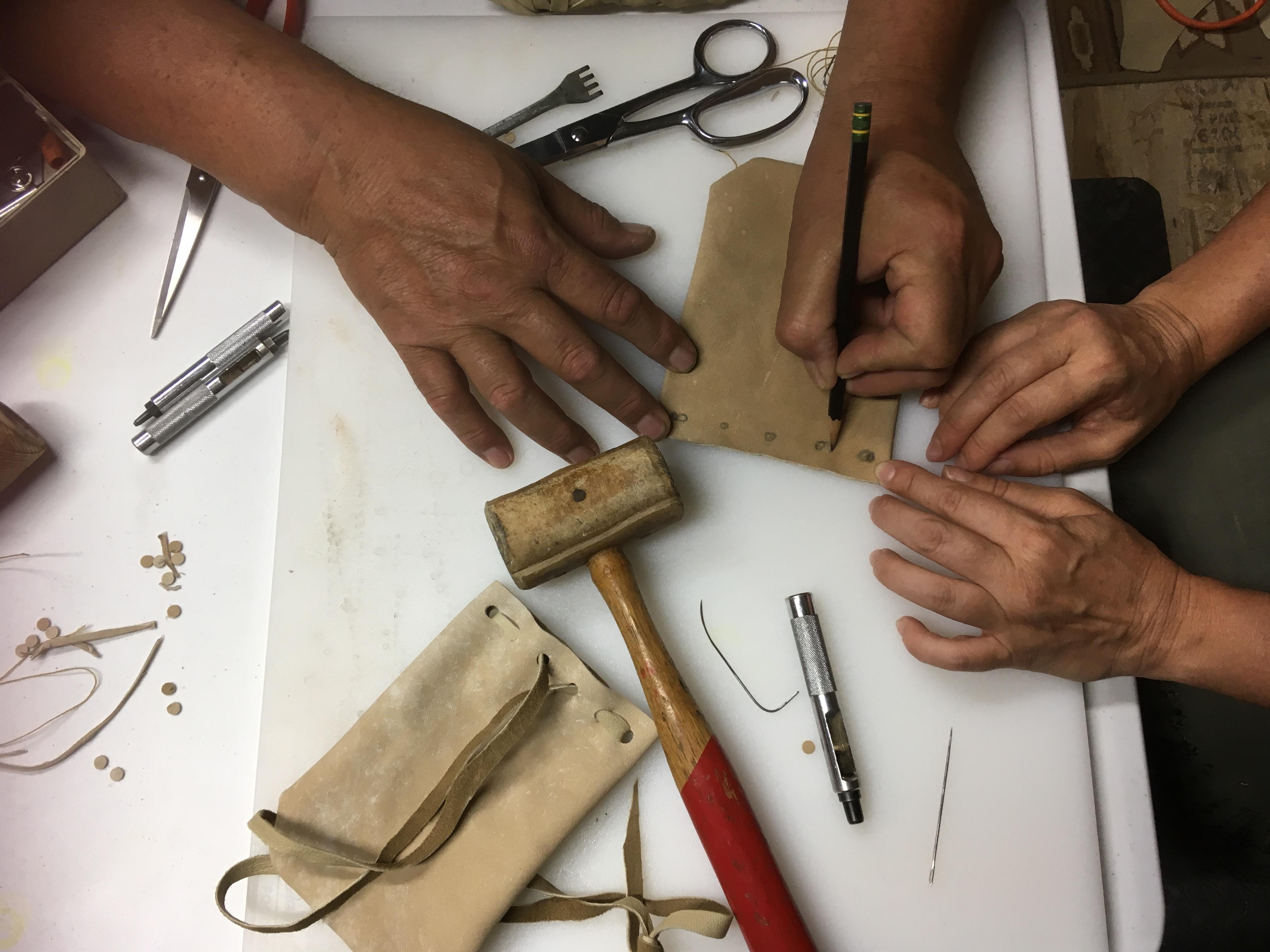 Fabrication d'un sac de médecine