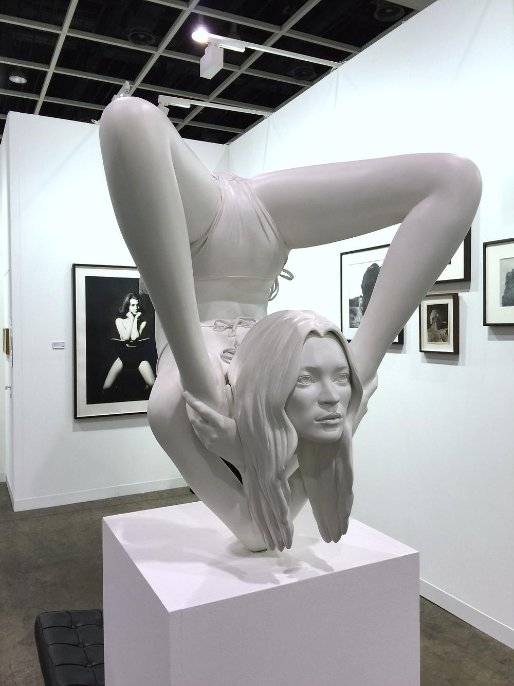 Kate Moss in yogo post - artist unknown - Art Basel HK 2016