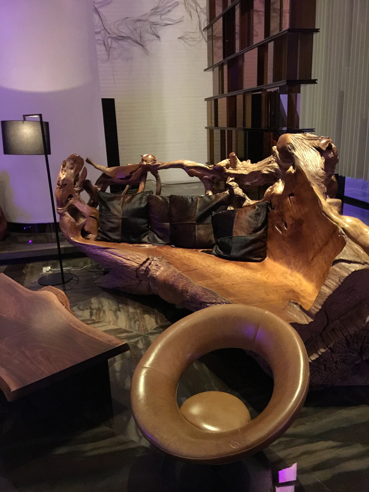 Upcycling wooden furniture in W Hotel, Guangzhou