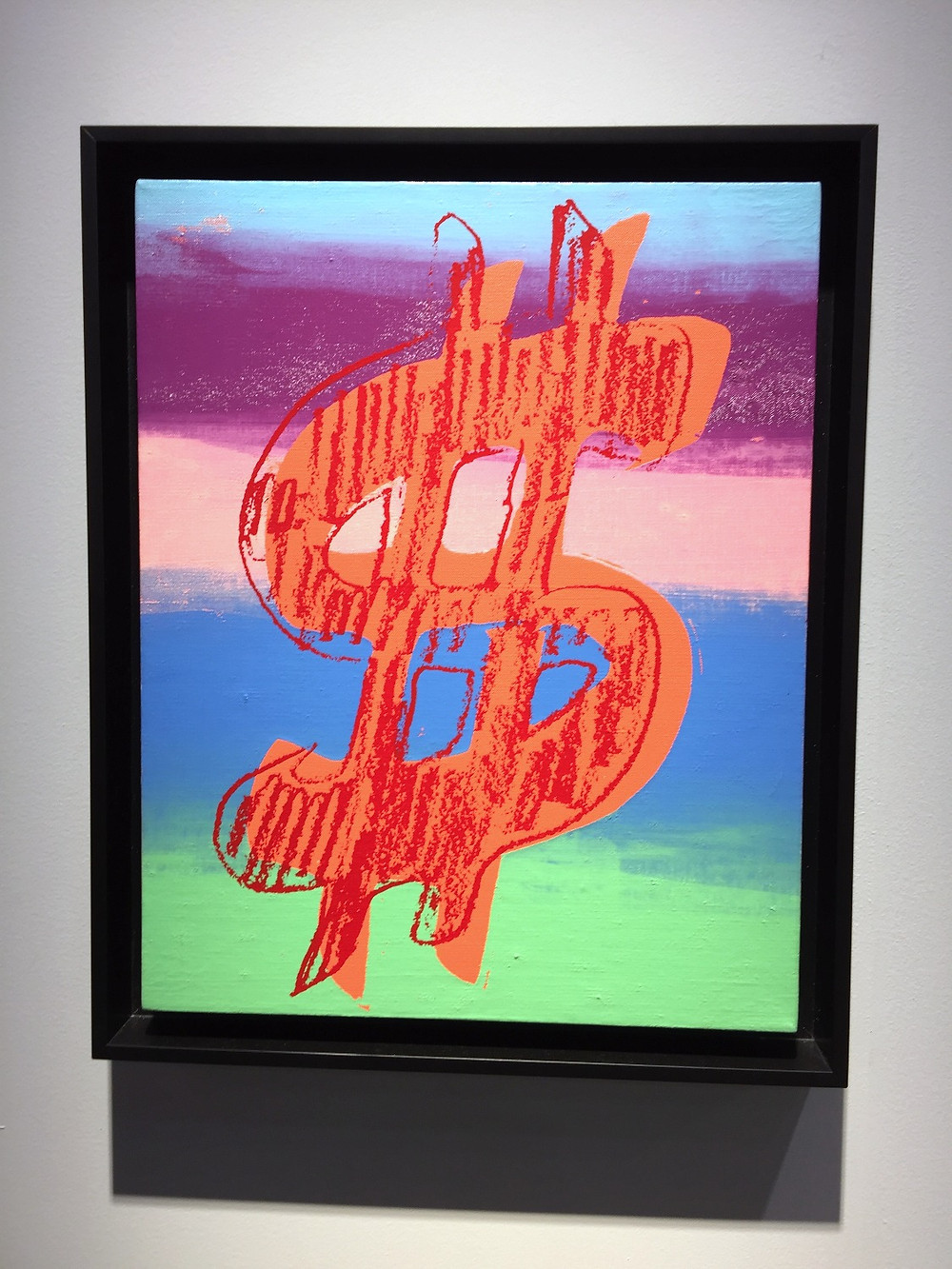 Andy Warhol | Dollar sign 1981 Synthetic polymer and silkscreen ink on canvas | Art Basel HK 2016