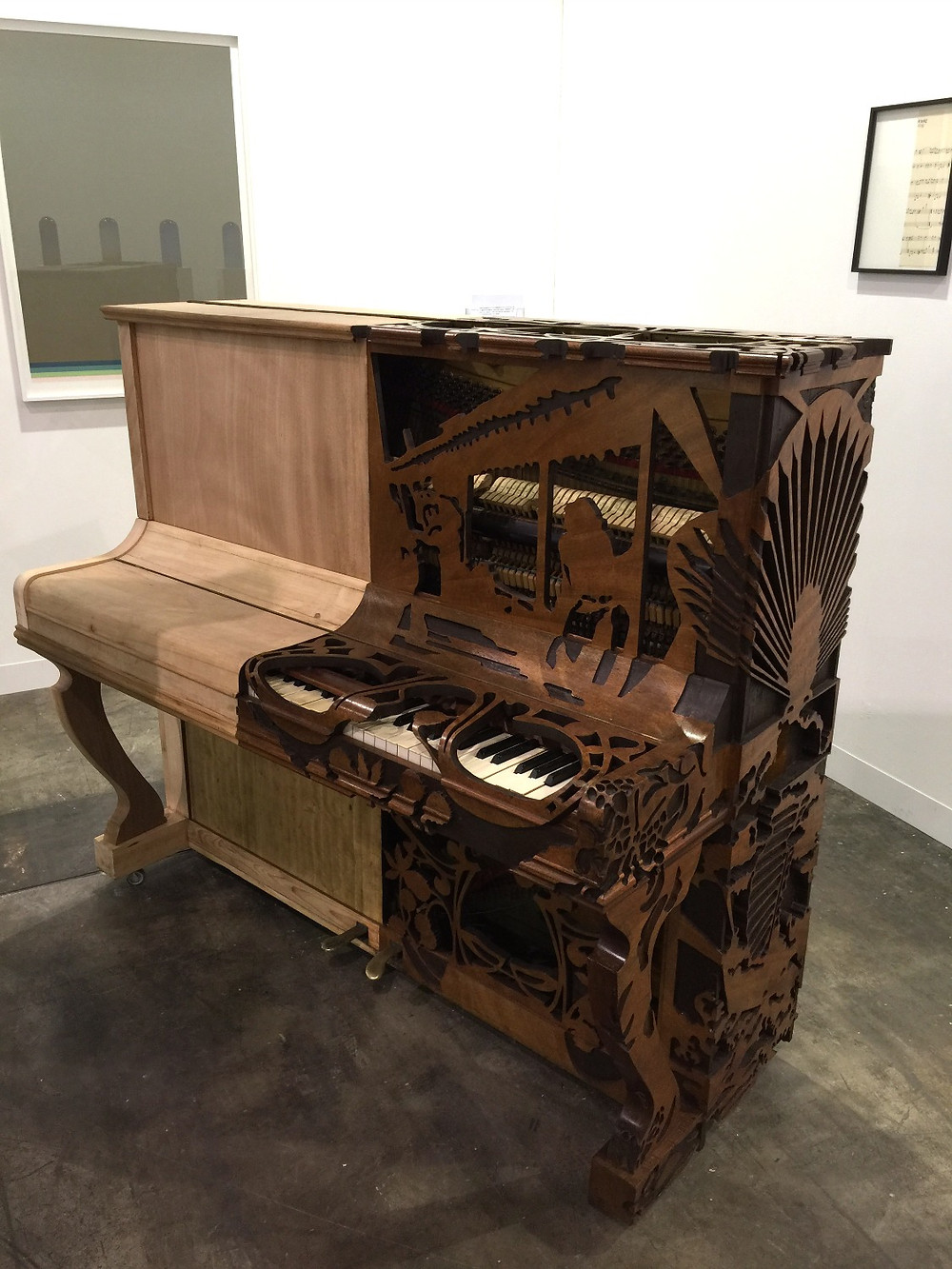 unknown | recycled wooden piano | Art Basel HK 2016