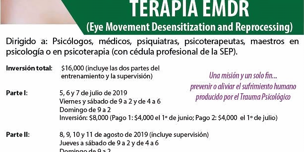 Entrenamiento en Terapia EMDR (Eye Movement Desensitization and Reprocessing)
