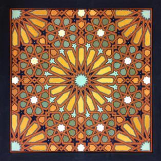 Sixteen-Fold Alhambra Geometry