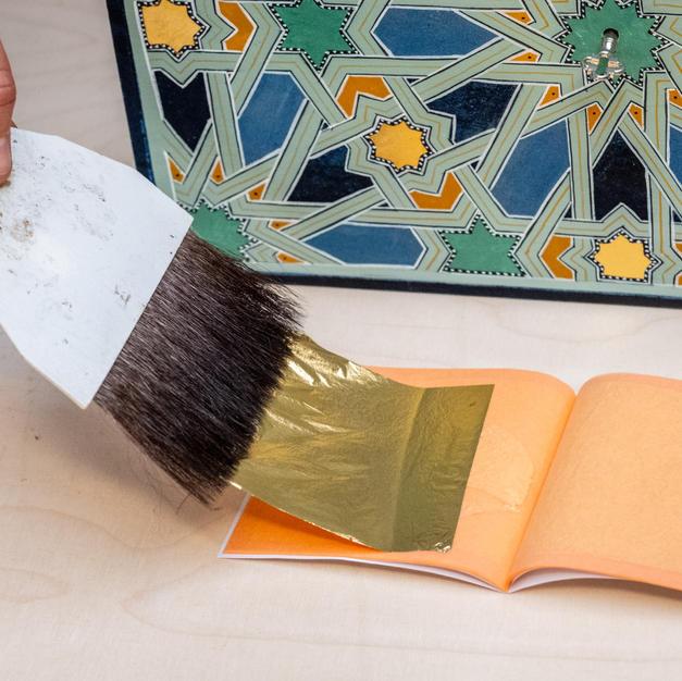 Sheet of Loose 24 carat Gold Leaf
