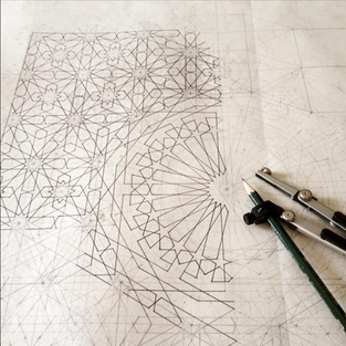 Work in Progress Shot of a Geometric Construction