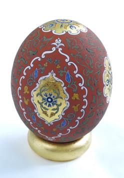 Red Ochre Ostrich Egg