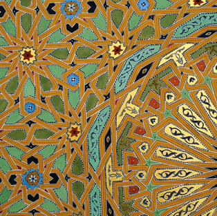 Detail from Twenty-Four Fold Geometry in Yellow Earth
