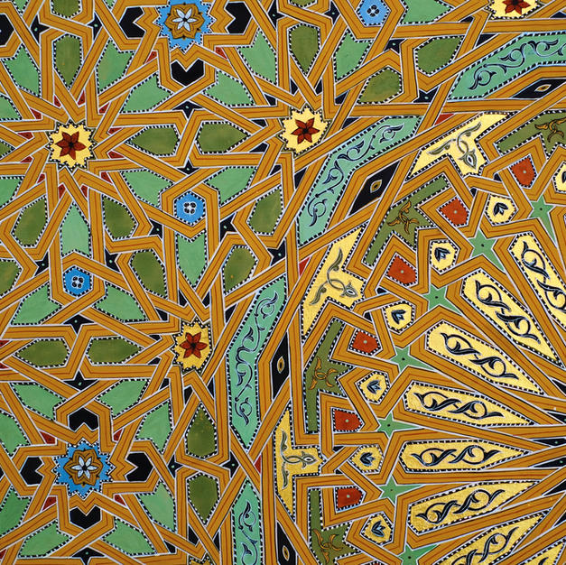 Detail from Twenty-Four Fold Geometry in Yellow Earth