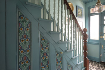 Under Stairs Painted Cupboards