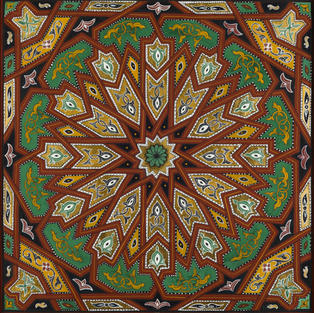 Twelve-Fold Geometry in Red Ochre