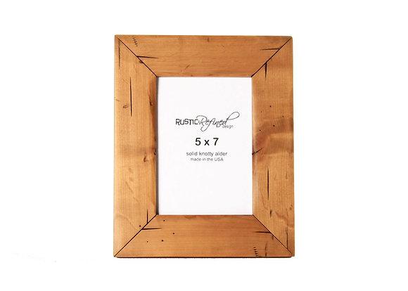 5x7 Cabin picture frame - Natural Alder