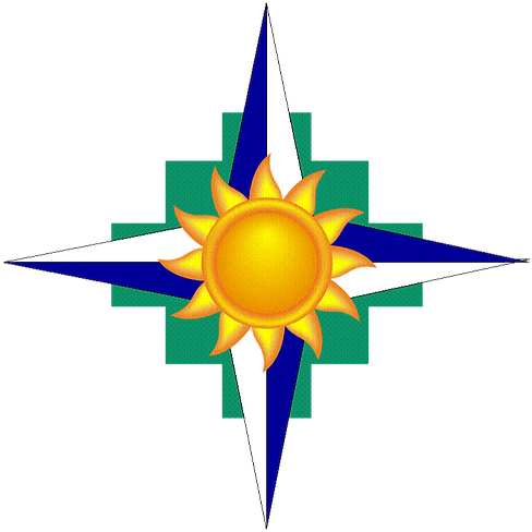 M&B Rossi Consulting LLC Logo, Incan Cross, Compass, Sunshine, Coaching, Leadership, Speaker, Author, Workshop, Engineering, Lean, Supply Chain, WBE, WOSB