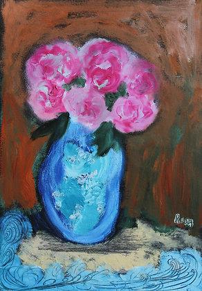 Bouquet au bord de la mer