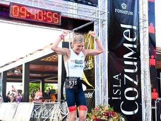 InsideOut client: Becky Paige, Crushes Ironman Cozumel with a PR 9:40:55. 1st Place in AG, 9th OA!