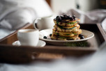 Berry, Spinach, Protein Pancakes