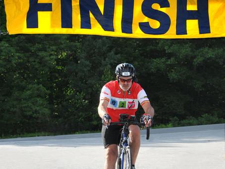 InsideOut client: Tom Rickenbacker...                           Wheelies Over B2VT Finish Line!