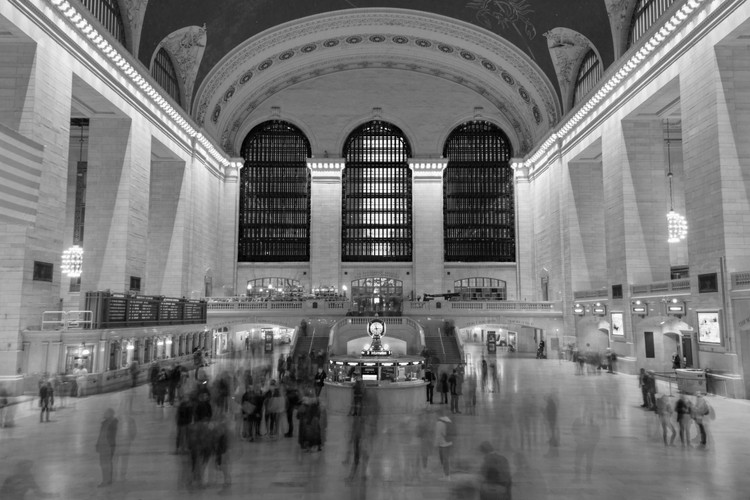 Ghostly figures in Grand Central Station, NYNY