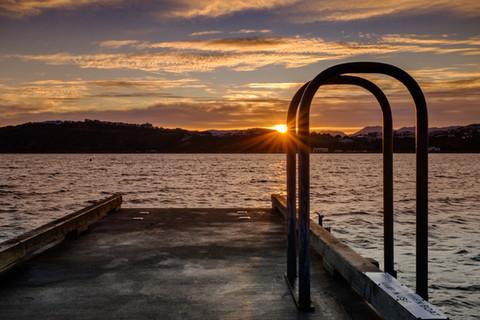 Sunrise over Evans Bay
