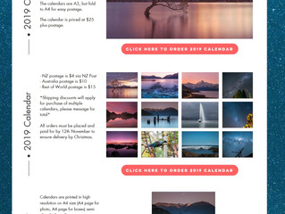 2019 New Zealand Landscape Calendar