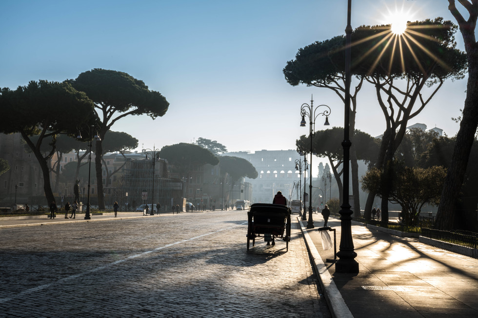 The road to the Colosseum