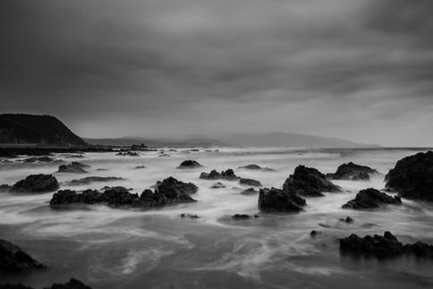 Dark and moody seascape