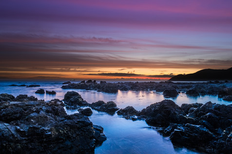 Sunset on the South Coast