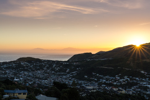 Sunset over Island Bay
