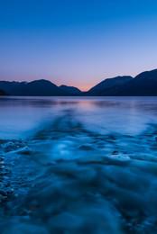 Sunset at Mieklejohn's Bay, near Queenstown, New Zealand