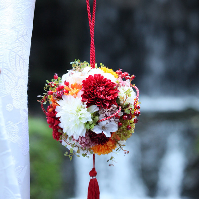 Dalia bouquet for Japanese wedding