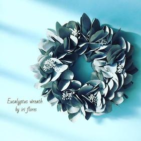 ・ ・_Preserved #eucalyptus #wreath._Very