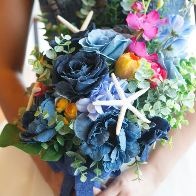 Denim Rose Bouquet