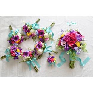 Happy wedding!!_・_#ハワイ挙式 にお持ちいただくブーケセットで