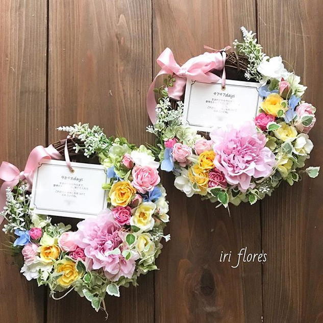 Happy wedding!!_・_贈呈用の#三日月リース です♡_以前アップし