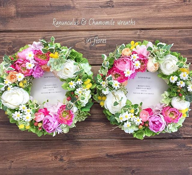 Happy wedding! Special wreaths for your