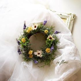 ・_・_Meadow wreth No. 15._Lavender×Cosmos