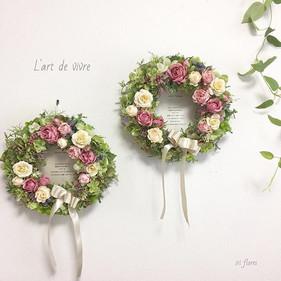 Happy wedding!! Elegant rose wreaths for