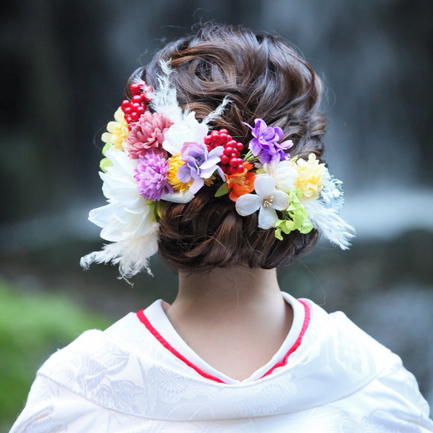 Headdress for Japanese wedding