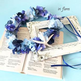 Happy wedding!!_・_デニムブーケ に合わせていただく#花冠 です