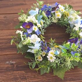 Happy wedding!_ Blue Wildflower wreath.j