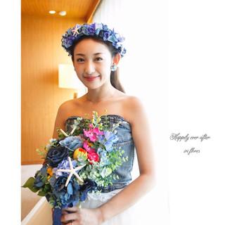 Denim Bouquet × Flower Crown