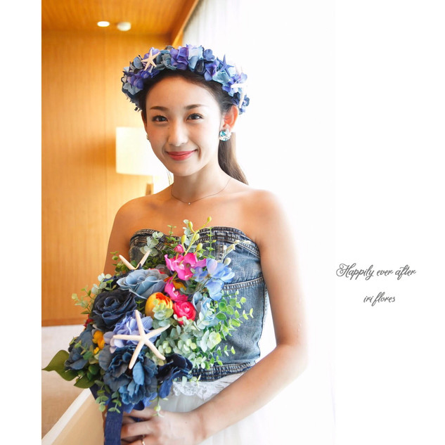 Denim Bouquet × Flower Crown