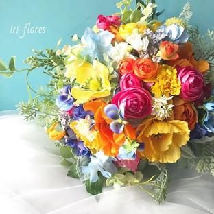 Happy wedding!!_・_#ハワイ挙式 にお持ちいただいた_春のお花た