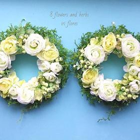 Happy wedding! 8 flowers and herbs wreth