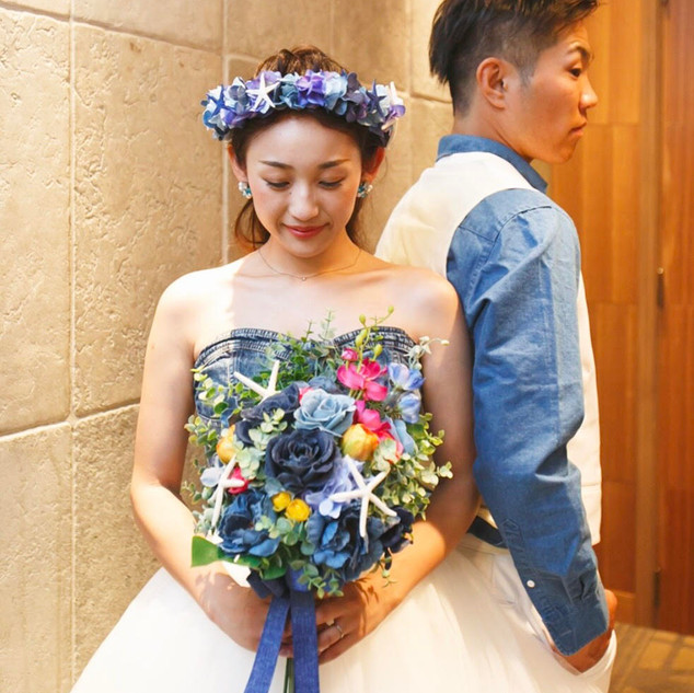 Denim Bouquet×Flower Crown