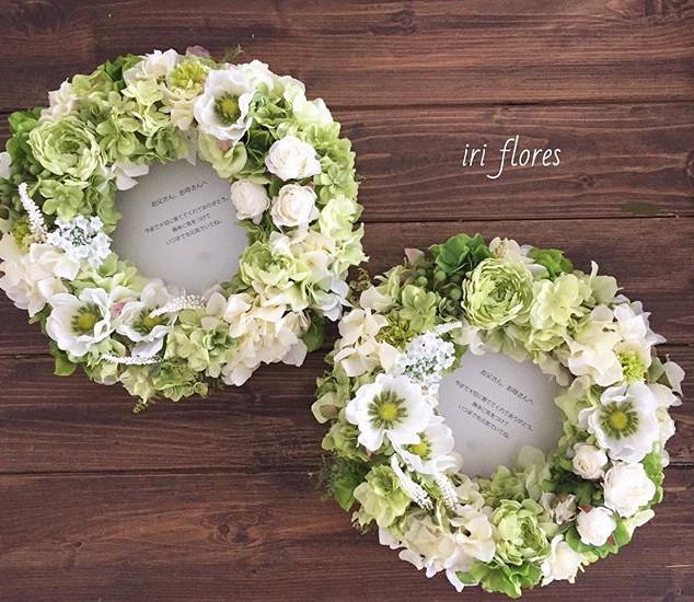 )_結婚式場へ直接発送いたしました♪_・_お色のご希望はグリーン×ホワイト。_ア