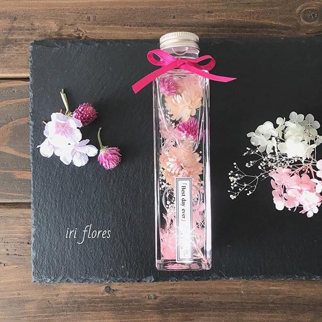 Sakura pink🌸_・_春の新作、桜ピンク色のハーバリウムです。_(通年