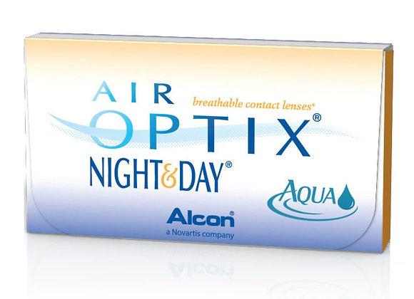Ежемесячные Контактные линзы AIR OPTIX NIGHT& DAY AQUA
