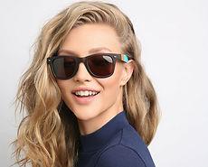 Распродажа солнцезащитных очков - фото модели в очках