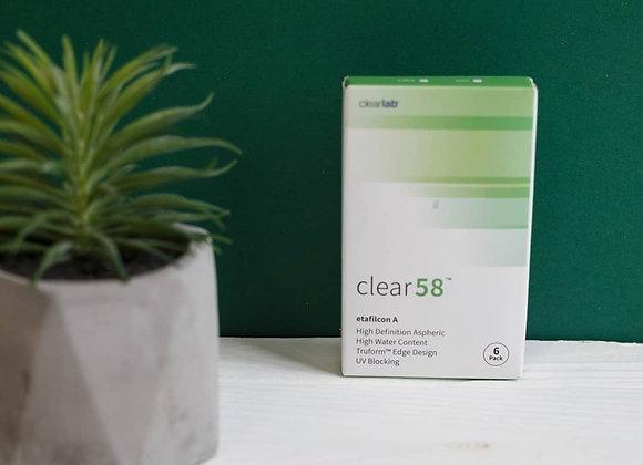 Ежемесячные Контактные линзы Clear 58 UV на фото