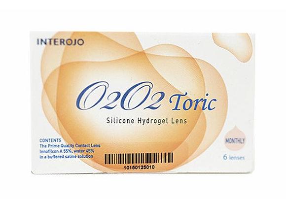 Ежемесячные контактные линзы O2O2 toric на фото